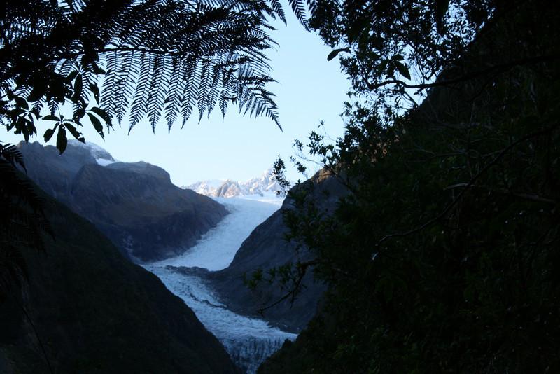 Fox Glacier - taken through the rain forest!