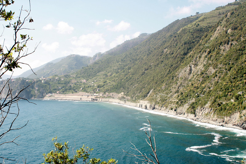 . . . and got our first glimpse of Corniglia in the distance.