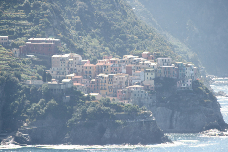 The next day, we set out - again hiking - for Town 3 (Corniglia), beginning to leave Town 2 behind us . . .