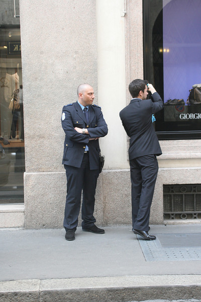 A security guard is needed just to dust the display items at Armani!