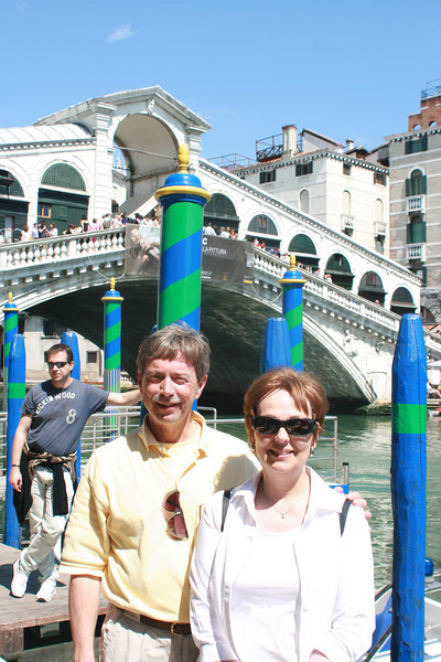 One of the 2 - maybe 3 - bridges over the Grand Canal.