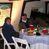 Enjoying the Ship and Friends, Carolyn and Chuck  - New Year's Eve on USS Constellation - Baltimore Harbor, MD