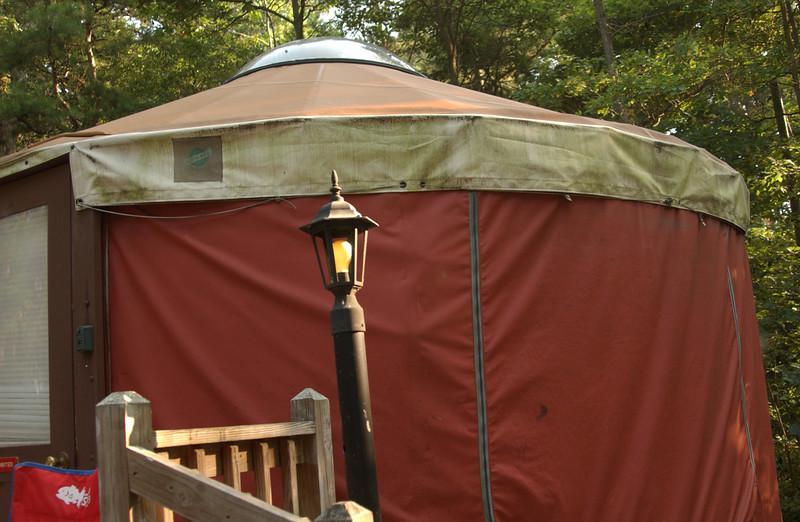 Close view of yurt