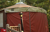 Close view of yurt