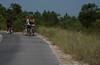 Biking to the beach on campground path