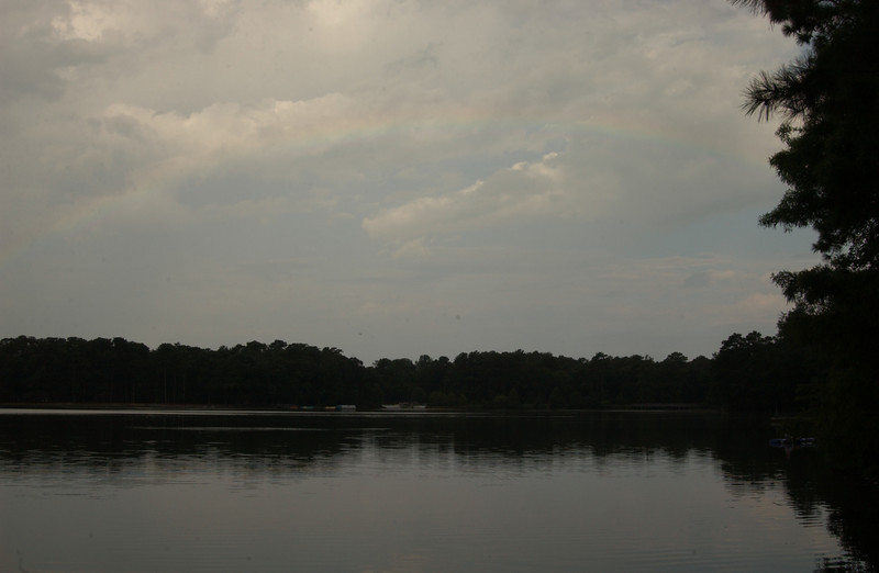 Rainbow over Trap Pond