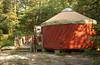 Our yurt at Trap Pond, view from side