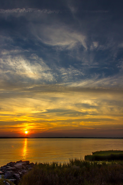Sunset over Sunset Island in Ocean City, Maryland.   © 2012 Joanne Milne Sosangelis. All rights reserved.