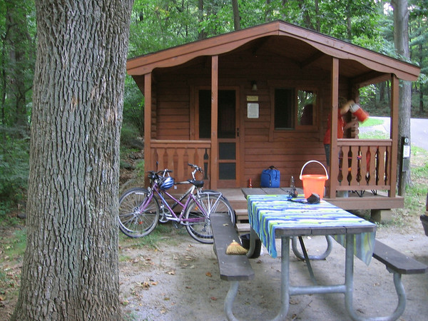 Our little cabin in Gambrill State Park, MD