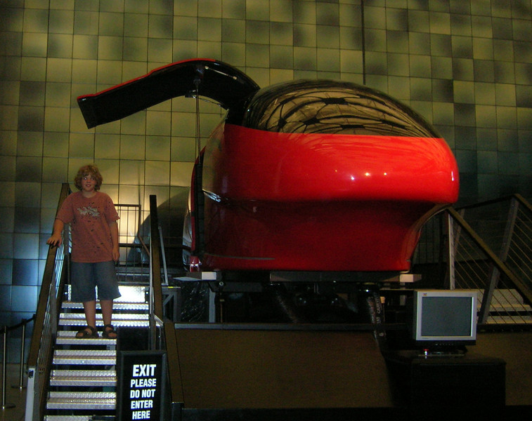 Seth rode in the Simulator in the Air & Space Museum