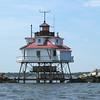 Thomas Point Lighthouse, Chesapeake Bay, Maryland.