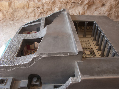 Model of bathhouse
