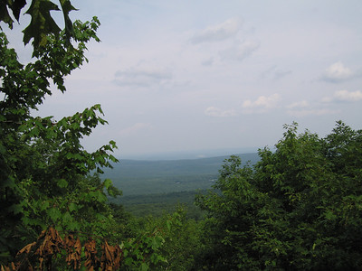 View towards Boston from summit of Wachusett Mountain, Massachusetts, 7 Aug 2007