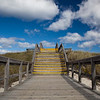 Trail to beach, Crane beach, Massachusetts, USA