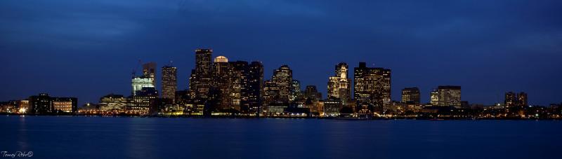 Boston skyline panorama, Boston, Massachusetts, USA
