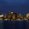 Boston´s skyline in the evening, Boston, Massachusett