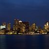 Boston´s skyline in the evening, Boston, Massachusett