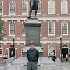 Ranal at Samuel Adams Monument - Boston, MA - Sept. 1994