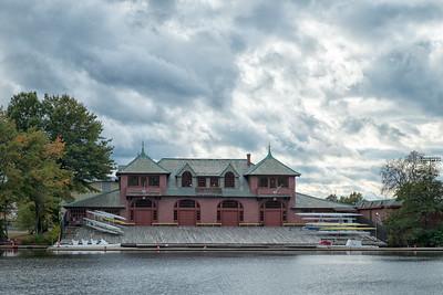 20151025.  Harvard University Newell Boathouse on the Charles River, Boston MA.