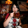 Evelyn enjoys a cold one at Cheers. SND Boston, October 2007. © 2007 JOANNE MILNE SOSANGELIS, All rights reserved