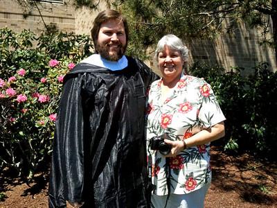 Conrad and His Proud Aunt :)