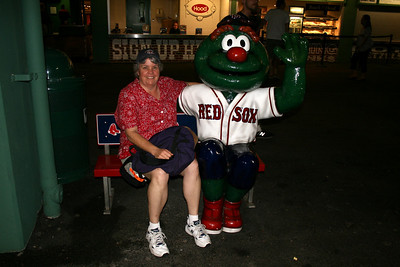 Me and Wally, the Green Monster - Fenway Park - Boston