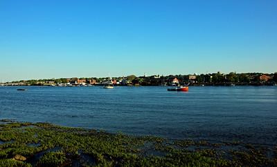 View of the Merrimack River and Newburyport from Ring's Island Marina - Salisbury