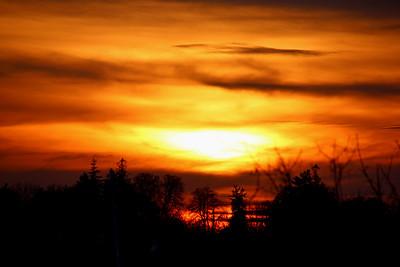 Sunset at Ring's Island Marina