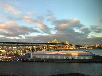 View of Tobin Bridge from Spaulding Rehabiliation Hospital