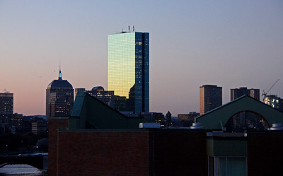 200 Clarendon (formerly the John Hancock Tower) at Sunset