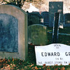Edward Gray 1681 - Burial Hill Cemetery - Plymouth, MA  10-24-98