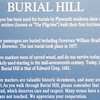 Signage About Burial Hill - Plymouth, MA  10-24-98
