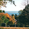 Pretty View from Burial Hill Cemetery - Plymouth, MA  10-24-98