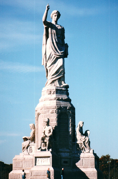 Front View of National Monument to the Forefathers - Plymouth, MA  10-24-98