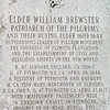 Elder William Brewster - Burial Hill Cemetery - Plymouth, MA  10-24-98