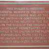 Memorial Tablet to Pilgrims - Plymouth, MA  10-24-98