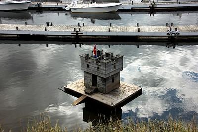 Mallard Castle in the Merrimack River near The Deck - Salisbury