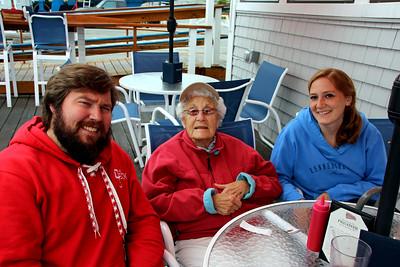 Conrad, Mem, Gena at The Deck