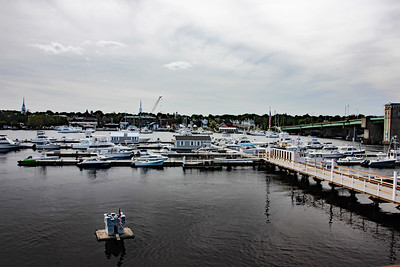 View of Bridge Marina from The Deck