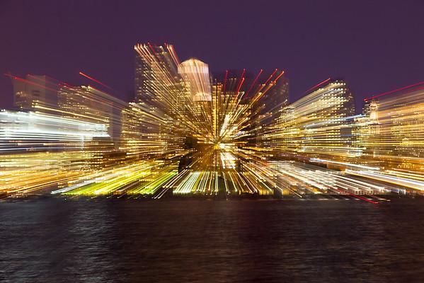Cityscape explosion