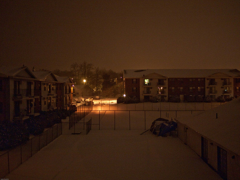 View from my balcony on a cold winter's night