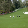 Haas, Couples and Mahan moving down the par five 8th to hit their second shots.