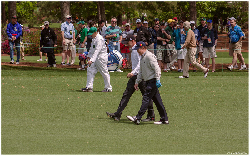 Tom Watson and unidentified playing partner