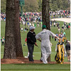 The incomparable  Fred Couples behind trees on 7.