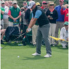 Sweden's Peter Hanson teeing off on 8. Another friendly fellow demonstrating good rapport with the gallery.