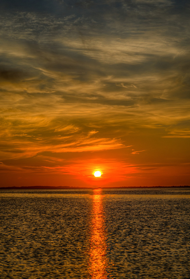 Fire at Sunrise - Edgartown