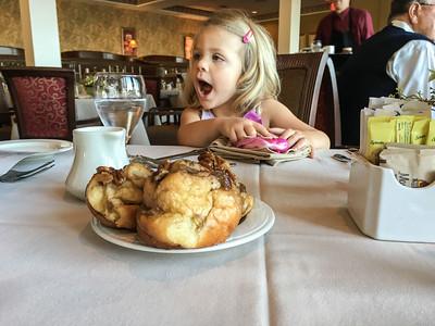 breakfast.  Nora loves bread.
