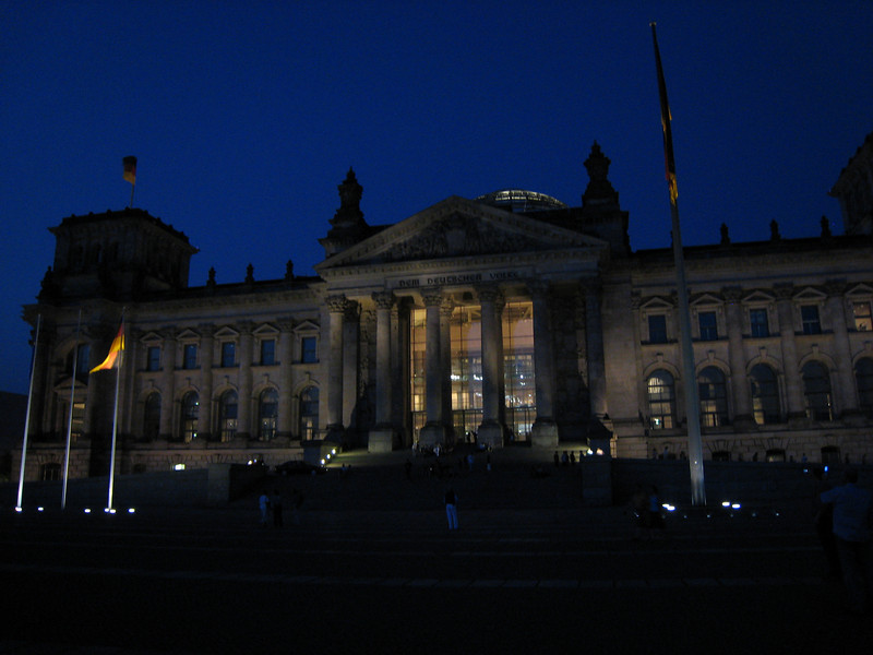 Reichstag, been there several times in my life, but only once when it wasn't a computer game.
