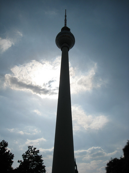Back to Berlin and the Fernsehturm (TV tower).