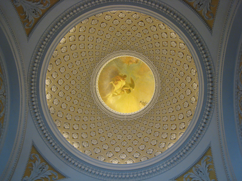 Amazing art work on the ceiling of a church in Leipzig.
